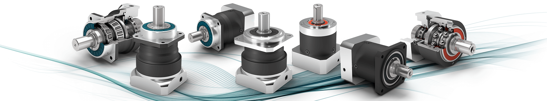 Panetary gearboxes with output shaft.